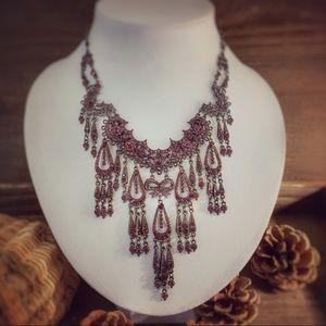 Jewelry - Amethyst & Silver Art Deco Necklace